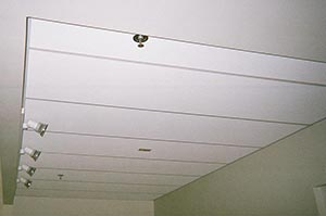 Acoustic Ceiling Tile with Lighting
